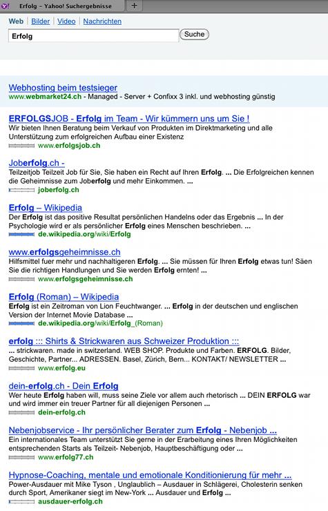 ausdauer-erflog.ch unter Erfolg auf Seite 1