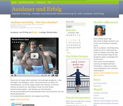 Neu eigener Domain ausdauer-erfolg.ch