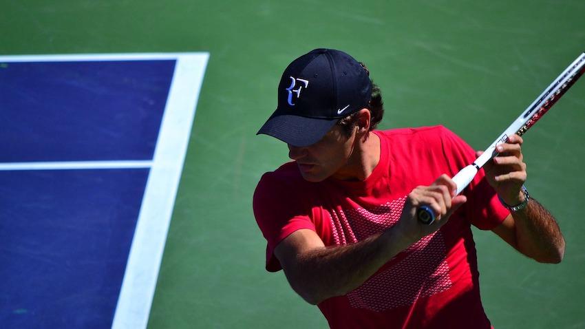 Roger Federer im Match