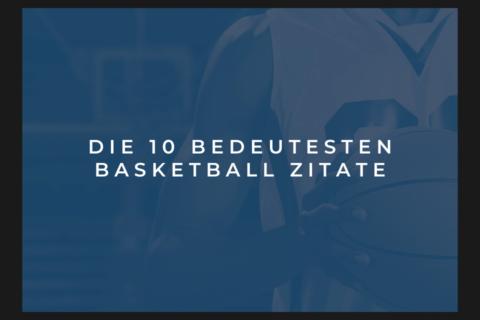 Tittelbild: Die 10 bedeutesten Basketball Zitate Ein Basketballspieler mit Basketball