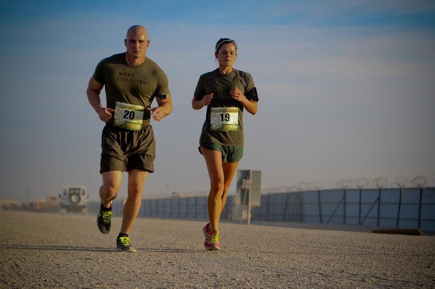 Zwei jogger - Effizient Laufen
