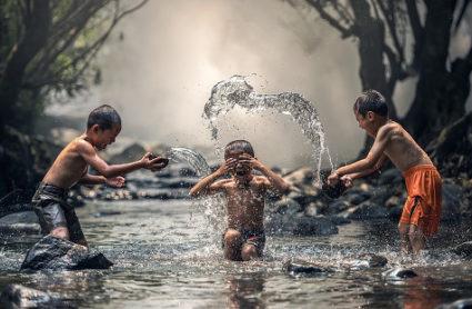 Kinder erleben Flow-Erleben bei ihren Beschäftigungen