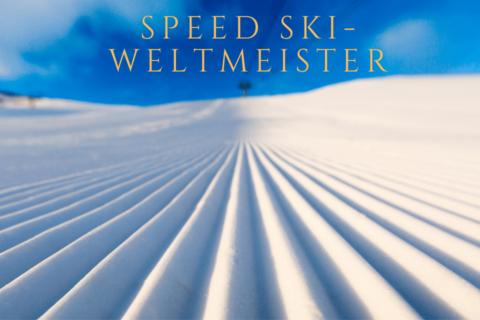 Speed SKI-Weltmeister , gut präparierte Ski Pist